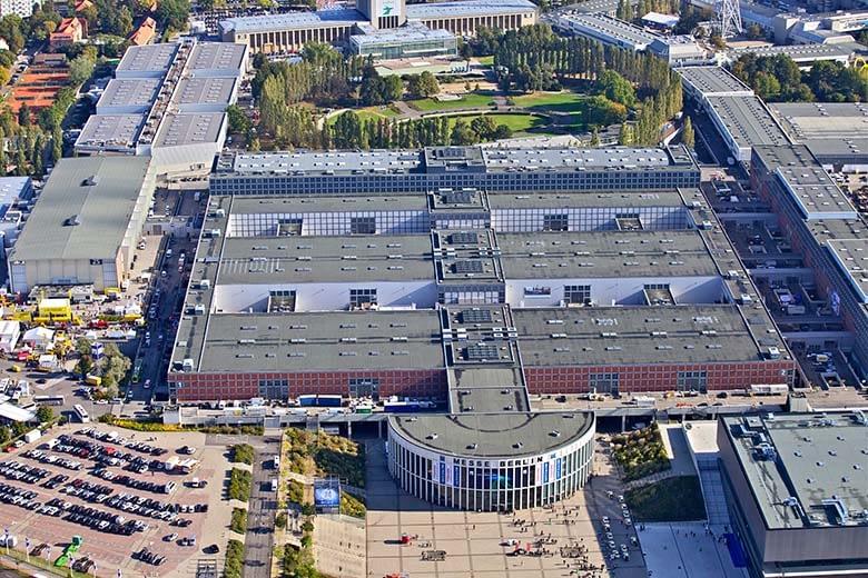 Messegelände Berlin Hallen Luftbild