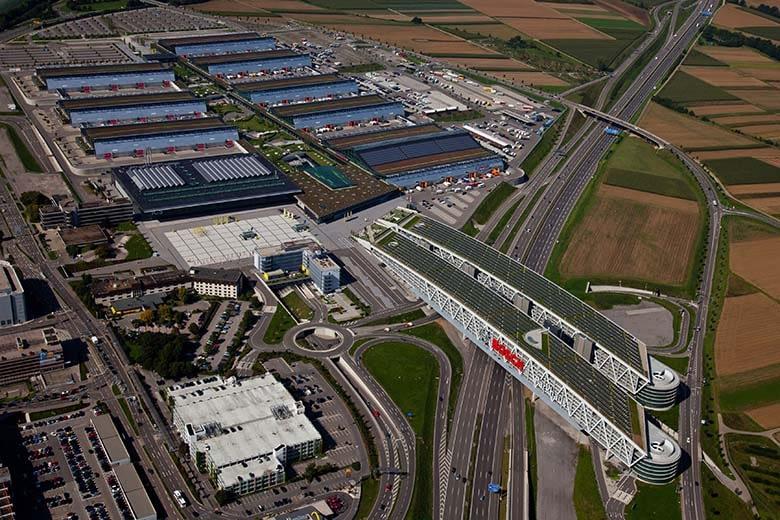 Messe Stuttgart Luftaufnahme