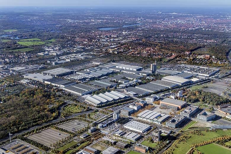 Deutsche Messe AG Hannover Luftbildaufnahme